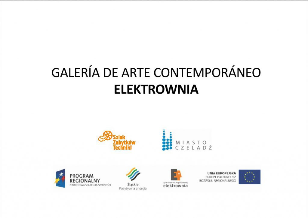 La primera diapositiva de la presentación multimedia sobre la Galería de Arte Contemporáneo Elektrownia