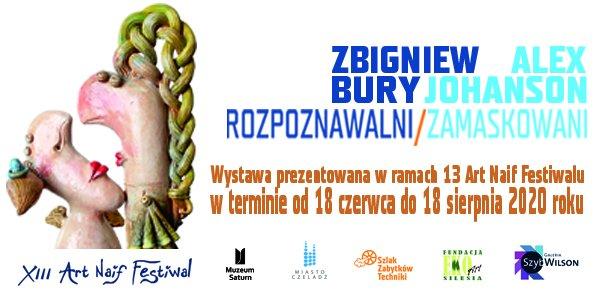 Grafika promująca wystawę Zbigniewa Burego