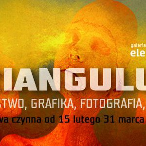 """Grafika promująca wystawę """"Triangulum"""""""