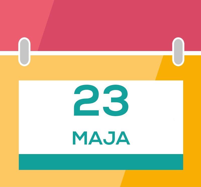 Grafika do informacji o tym, że Galeria będzie nieczynna 23 maja 2021 r.