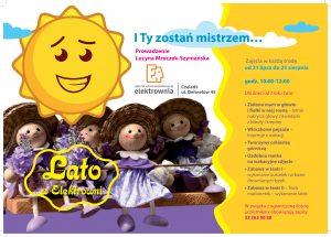 """Plakat promujący akcję """"Lato w Elektrowni"""""""